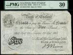 Bank of England, John Nairne (1902-1918), 5, London, 23 September 1915, serial number 63/D 27483, bl
