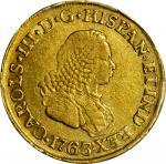 COLOMBIA. 1763-J 2 Escudos. Popayán mint. Carlos III (1759-1788). Restrepo 58.8. VF-35 (PCGS).