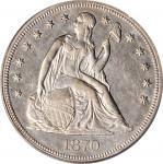 1870-CC Liberty Seated Silver Dollar. OC-9. Rarity-4-. AU-55 (PCGS).