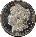1897-S Morgan Silver Dollar. MS-66 PL (PCGS). CAC. Gold Shield Holder.