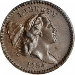 1794 Liberty Cap Half Cent. C-9. Rarity-2. High-Relief Head. MS-63 BN (PCGS). CAC.