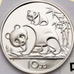 1985年熊猫纪念银币27克 完未流通