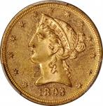 1893 Liberty Head Half Eagle. MS-62 PL (PCGS).
