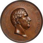 1850 (Post-1861) Millard Fillmore Indian Peace Medal. First Size. Bronze. 76 mm. Julian IP-30. MS-64