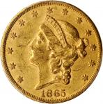 1865-S Liberty Head Double Eagle. AU-53 (PCGS).