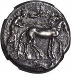 SICILY. Syracuse. Second Democracy, 466-406 B.C. AR Tetradrachm (17.13 gms), ca. 466-460 B.C. NGC AU