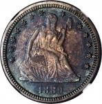 1889 Liberty Seated Quarter. Proof-66+ (NGC). CAC.