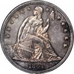 1841 Liberty Seated Silver Dollar. Proof-63 (NGC).