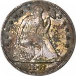 1847 Liberty Seated Silver Dollar. OC-P1. Rarity-6+. Proof-63 (PCGS). CAC.