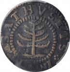 1652 Pine Tree Shilling. Small Planchet. Noe-29, Salmon 11-F, W-930. Rarity-3. VF-20 (PCGS).