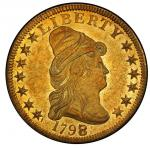 1798/7 Capped Bust Right Eagle. Bass Dannreuther-2. Rarity-6-. Stars 7x6. Mint State-61 (PCGS).