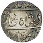 MUGHAL: Ahmad Shah Bahadur, 1748-1754, AR rupee 4011。31g41, Narwar, year 6, KM-446。39, with sharp di