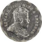 BRITISH INDIA: Edward VII, 1901-1910, 1 anna, 1908-B, KM-504, S&W-7.147, lovely example with fully l