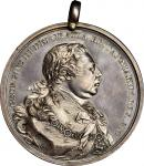 1814 George III Indian Peace Medal. Silver. Medium Size. Adams 13.1. (Obverse 1, Reverse A). Adams C