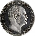 GERMANY. Prussia. Taler, 1861-A. Berlin Mint. Friedrich Wilhelm IV. PCGS PROOF-64 Cameo Gold Shield.