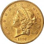 1857 Liberty Head Double Eagle. AU-58 (PCGS). CAC.