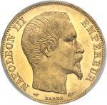 FRANCE Second Empire / Napoléon III (1852-1870). 20 francs tête nue 1857, A, Paris.
