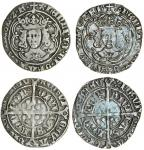 Henry VII (1485-1509), Groats (2), both type IIIC, 2.73g, m.m. pansy, hennric di gra rex angl z f, s