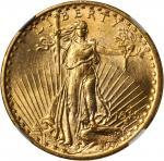 1915-S Saint-Gaudens Double Eagle. MS-64 (NGC).