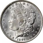 1891-CC Morgan Silver Dollar. VAM-3. Top 100 Variety. Spitting Eagle. MS-66 (PCGS).