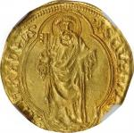 ITALY. Papal States. Ducat, ND (1431-47). Rome Mint. Eugene IV. NGC MS-64.