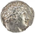 TYRE: AR shekel 4014。2g41, CY38 4089/8 BC41, DCA-137, laureate head of Melqart right // eagle standi