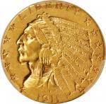1911-D Indian Half Eagle. EF Details--Scratch (PCGS).
