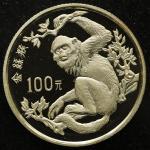 1988年中国珍稀野生动物(第1组)纪念金币8克金丝猴 完未流通