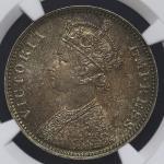 INDIA British India イギリス领インド Rupee 1877(b) NGC-MS61 AU