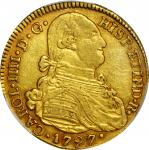 COLOMBIA. 1797-JF 4 Escudos. Popayán mint. Carlos IV (1788-1808). Restrepo M94.8. EF-40 (PCGS).