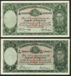 Commonwealth of Australia, 」1 (2), ND (1938), serial number P/40 338617, ND (1942), serial number J/