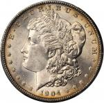 1904 Morgan Silver Dollar. MS-66+ (PCGS).