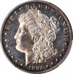 1892 Morgan Silver Dollar. Proof-63 (PCGS).