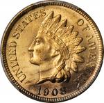 1908-S Indian Cent. MS-65 RB (PCGS). CAC.