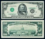 14061   美国1977年伍拾圆纸币一枚