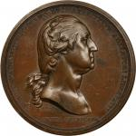 1776 (ca. 1789) Washington Before Boston Medal. Paris Mint Original. Bronzed Copper. Julian MI-1, Mu