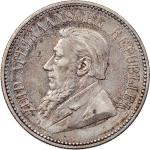 South Africa, silver 1 shilling, 1933 and silver 2 1/2 shillings, 1894, the first toned about uncirc