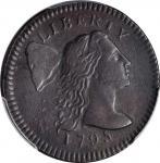 1795 Liberty Cap Cent. S-76B. Rarity-1. Plain Edge. EF Details--Environmental Damage (PCGS).