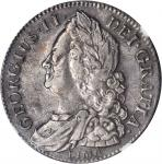 GREAT BRITAIN. 1/2 Crown, 1745. George II (1727-1760). NGC EF-45.