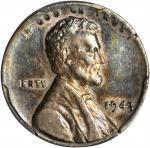 1943 Lincoln Cent--Struck on a Silver Dime Planchet--AU-55 (PCGS).