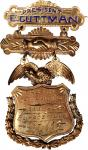 American Social and Protective Organization Presidents Badge. Gold. 38 x 75 mm. 20.5 grams. Near Min