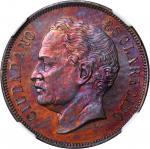 VENEZUELA. 2 Centavos Essai, 1863-E. NGC PROOF-65 RB.