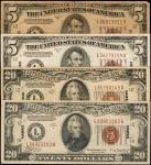 Lot of (4) Fr. 2302 & 2305. 1934A $5 & $20 Hawaii Emergency Notes. Fine to Extremely Fine.