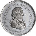 (Circa 1800) Repub. Ameri Medal. Second Obverse. White Metal. 32.9 mm, rims 2.6 to 2.9 mm thick. Bak