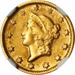 1849-D Gold Dollar. AU-55 (NGC).