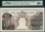 x Banque de lIndo-Chine, Viet Nam, specimen 1000 piastres, ND (1948), serial number O.000-000, dark
