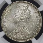 INDIA British India イギリス领インド Rupee 1879(b) NGC-MS61 AU