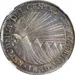 GUATEMALA. 8 Reales, 1839/7-NG MA/BA. Nueva Guatemala Mint, Assayer