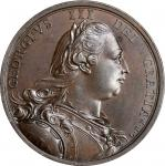 "Undated (ca. 1775) George III ""American Independence"" Medal. Bronze. 40.1 mm. By Lewis Pingo. Betts-"