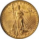 1911-D Saint-Gaudens Double Eagle. MS-63 (NGC).